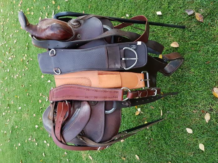 Fully mounted western saddle