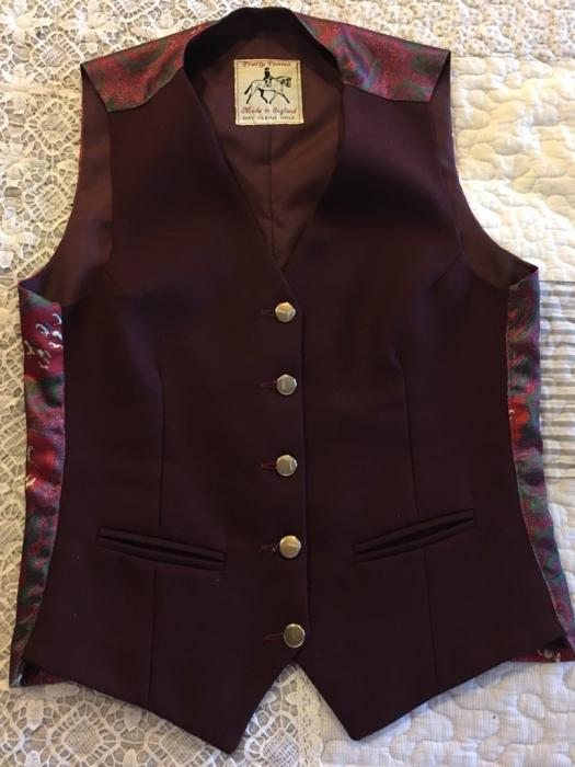 Pretty Ponies Burgandy Vest
