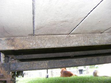 underneath showing hardwood timber plank flooring