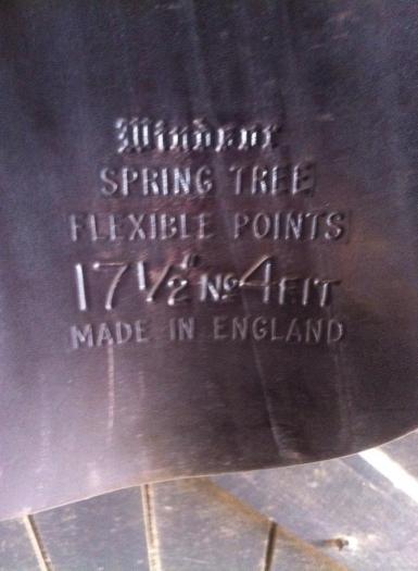 Windsor saddle underflap