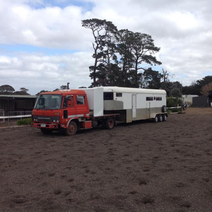 Nissan UD truck and 5 horse gooseneck