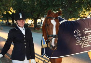 winners - overall young rider dressage festival