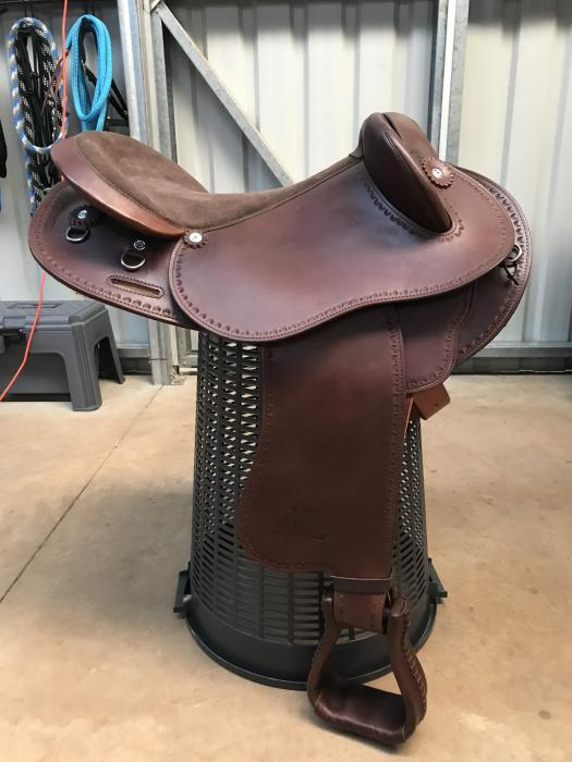 Syd Hill Half Breed Leather Saddle 17 inch Brown
