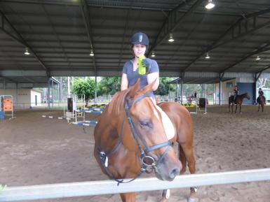 Evan Parker Showjumping Clinic undercover arena