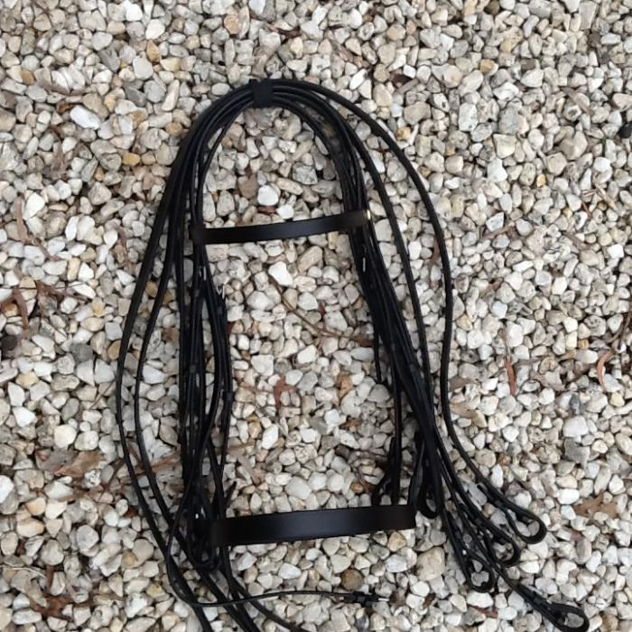 English Leather Double Show Bridle: Extra Full