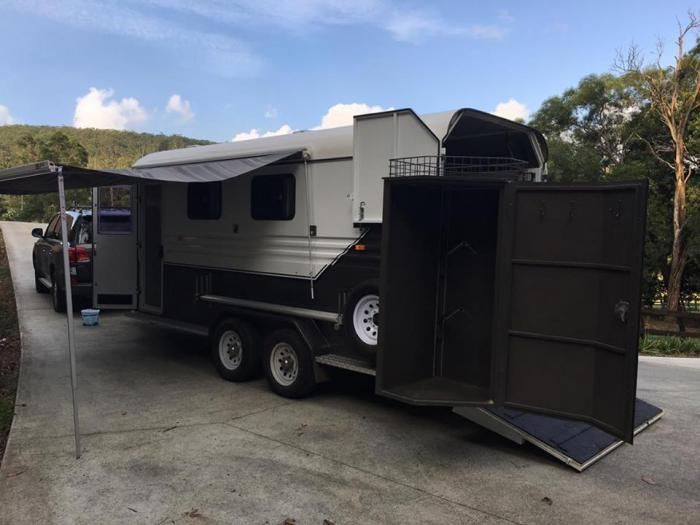 Imperial 2 Horse Angle Load Custom Camper