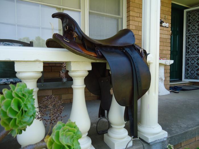 Military Saddle, genuine  (Postage Possible)