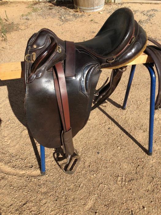 Wizard Smith Cox Poley stock saddle, 17 inch