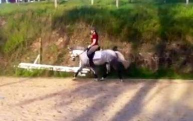 Riding at home (excuse poor quality photo)