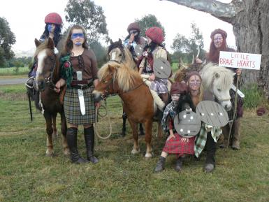 Dressed as Braveheart for Street Parade. Won best dressed award