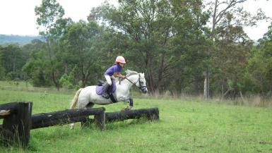 At a cross country clinic at Wingham