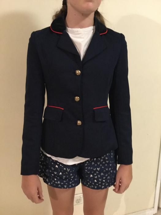 Giddyup Girl navy riding jacket s12 child's