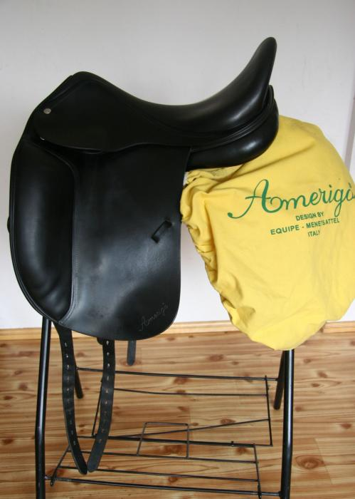 "AMERIGO CORTINA Dressage saddle 17""/ M short flaps"