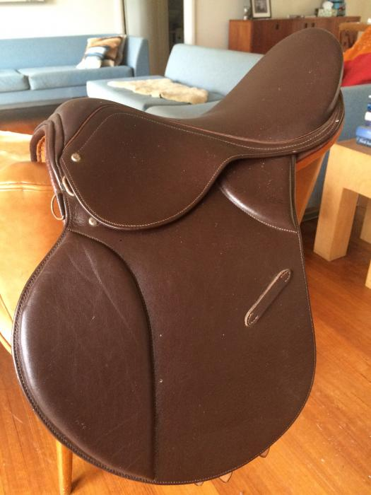 "15"" Full Leather Childs brown saddle"