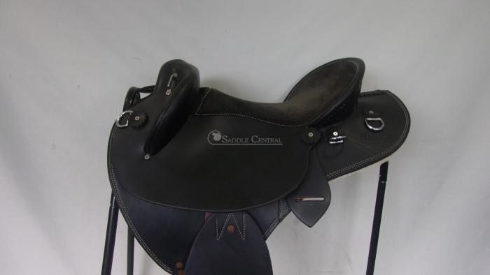 Ammo Full Leather Half Breed Fender Saddle