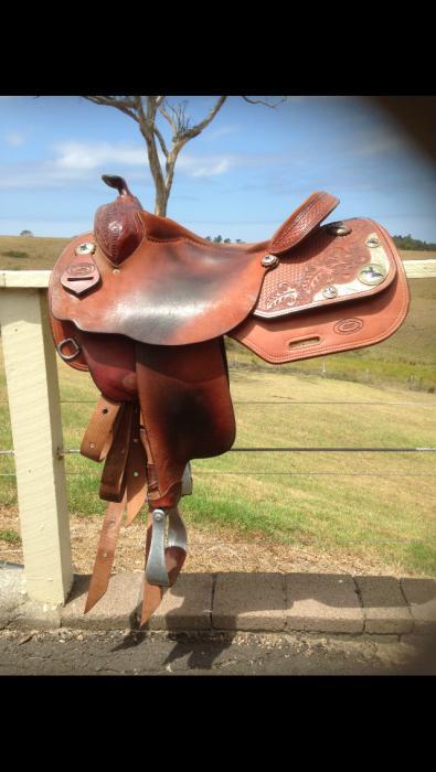 5 Star Reining Saddle Rick Meredith