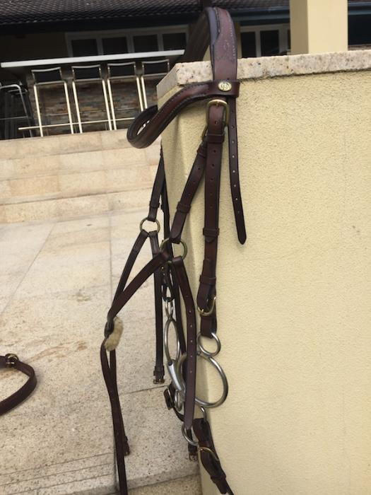 3-in-1 Barnsby Brown Leather Bridle FULL