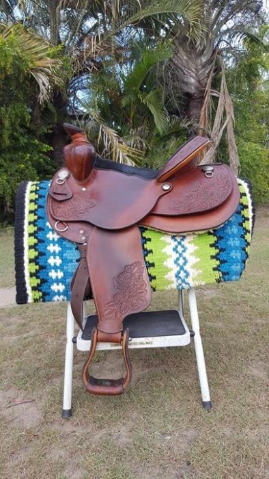 "John Allington Bear Trap Western Saddle 16"" seat"