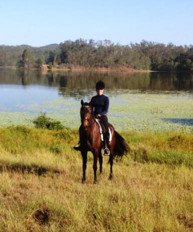 Trail riding at Lake Manchester