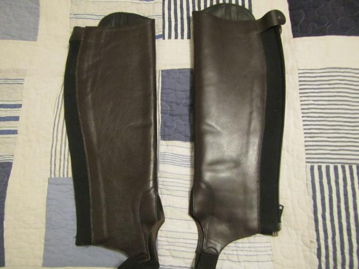 New leather brown gaiters by Harold Boot Co