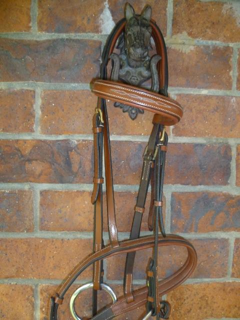 J&L Show Hunter Stitched Snaffle Bridle (Full)