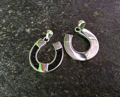 Sterling Silver Horseshoe Pendant made by Mane Attraction Custom Horse Hair Jewellery (Australia)