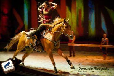 Rodvale Augustus in the Cavalia show in Perth - photo: Downunder Photography