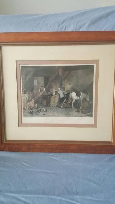 """A Country Blacksmith"" Antique Print"