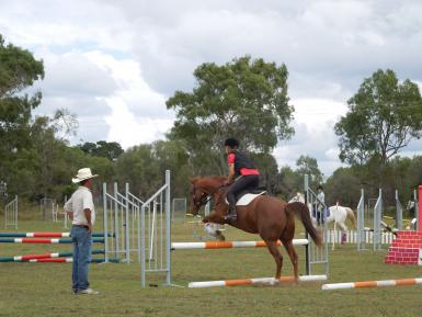David Green jump clinic. Can jump but not his favourite sport