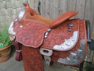 western blue ribbon show saddle