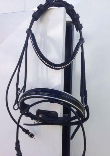 Belle Countess Rolled Leather Bridle