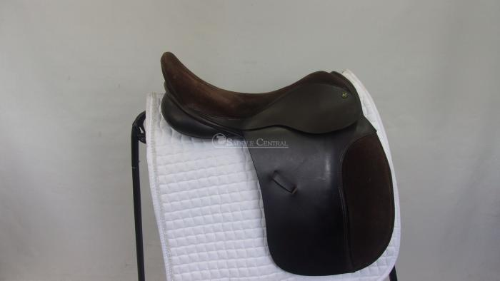 "Ideal Jessica 18"" suede seat BROWN Dressage Saddle"