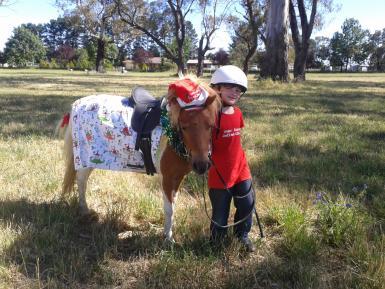 Christmas day at pony club