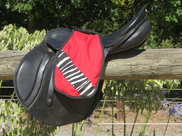 Saddle Stirrup Sleeve protector English style RED