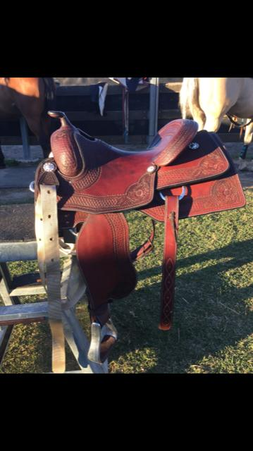 "Brand New 15""Hawsbury Reining/Ranch Western Saddle"