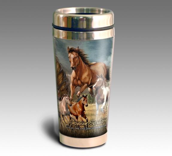 American Mustang - Stainless Steel Travel Mug