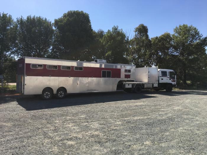 Isuzu truck and 5/6 horse gooseneck