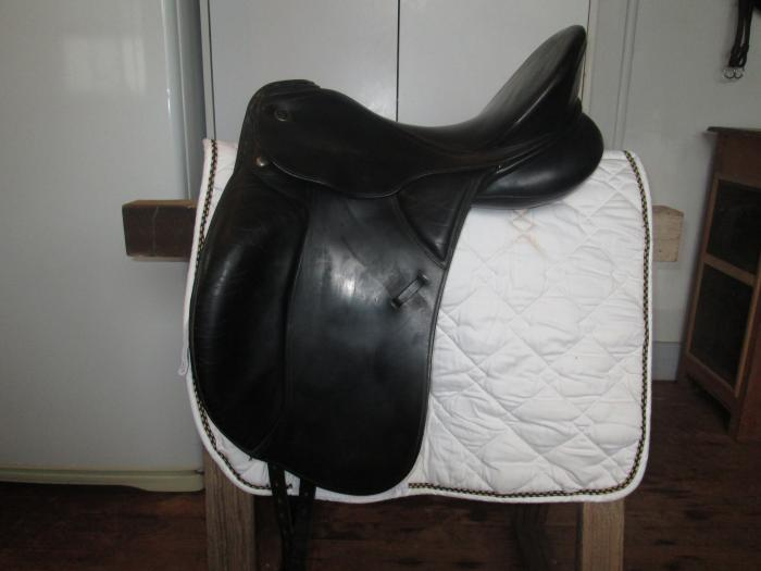 Kieffer Kur Black Dressage Saddle Size 1