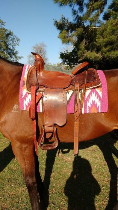"""Custom made 13"""" western saddle"""