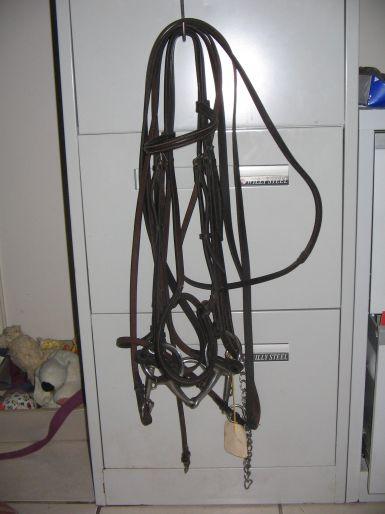 Brown FS bit & bradoon bridle