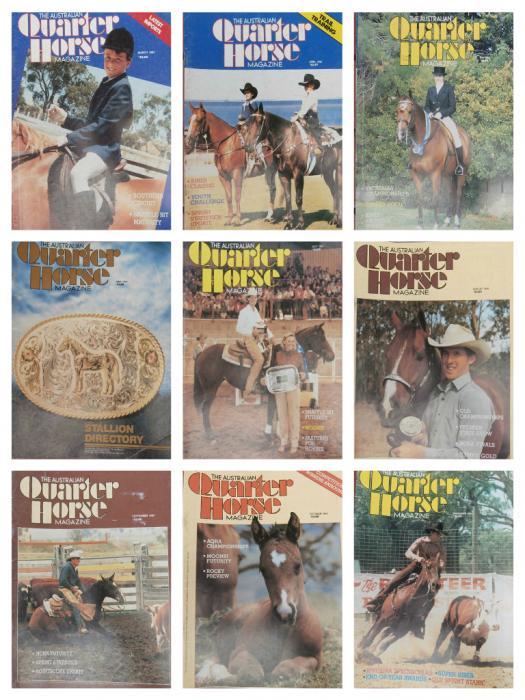 Vintage Quarter Horse Magazines (AQHA/QH) 1979 -95
