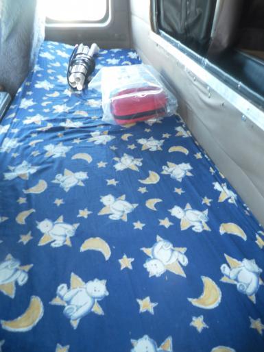 Sleeper in cab.