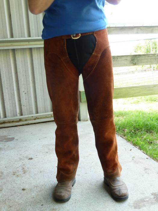 TAN FULL LENGTH SUEDE CHAPS (2 Pairs)