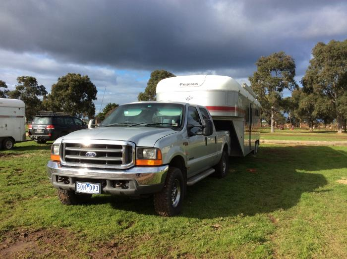 Pegasus gooseneck and F250 for sale