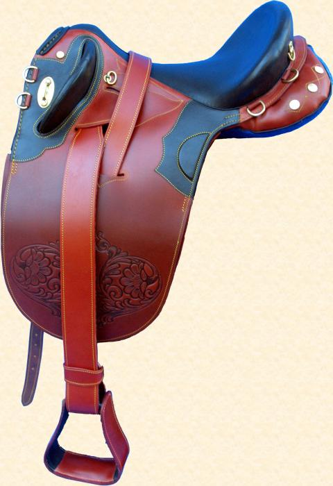 Brown Leather Poley Saddle