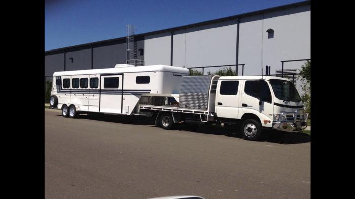 Gooseneck and Truck
