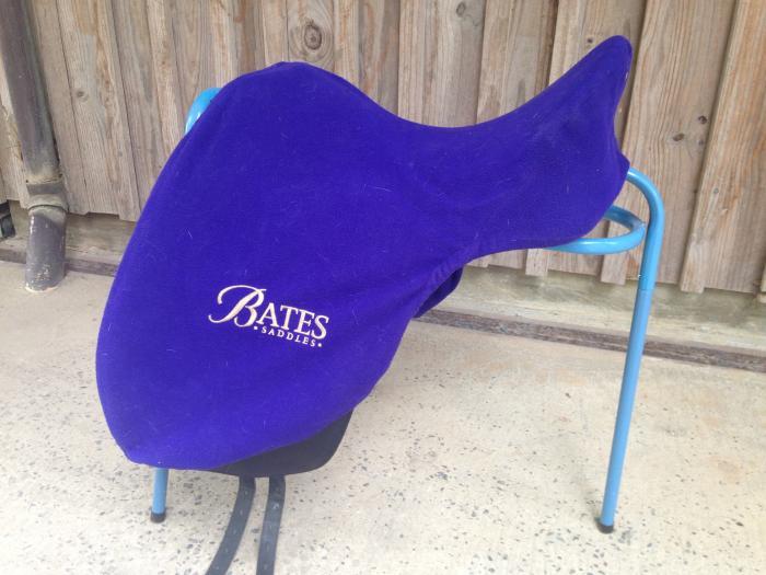 Bates Leather Dressage Saddle Cair 17inch Black
