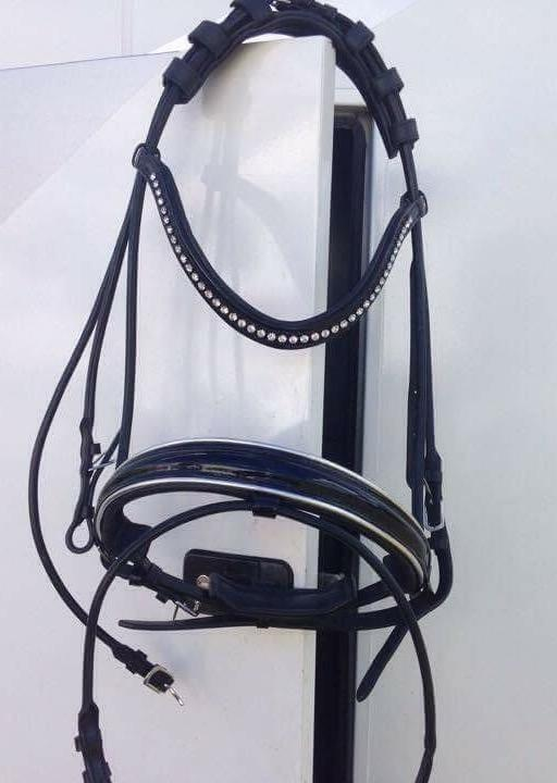 Belle Equestrian Countess Rolled Leather Snaffle Brid