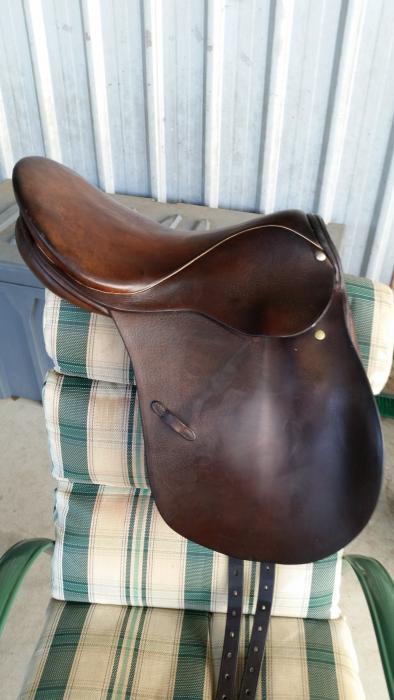 "Stubben 16"" Brown Leather Saddle"