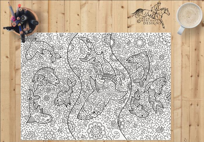 Adult Coloring Page - Downloadable PDF